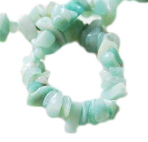 Green Amazonite chip string, 80cm