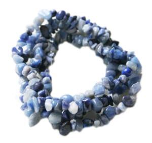 Blue Aventurine chip string, 80cm