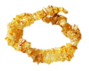 Amber chip string, 40cm