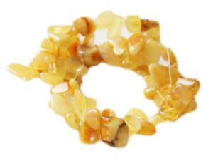 Amber chip string, side-drilled, 40cm