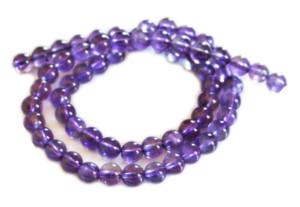 Amethyst bead string, AA grade, round, 6mm, 40cm