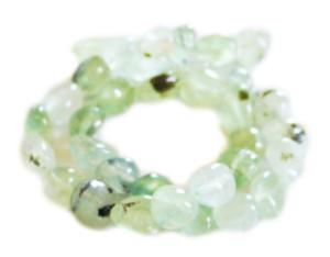 Prehnite bead string, nuggets, 10x14mm, 40cm