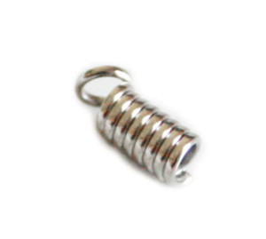 20 x Nickel free end crimp, 3mm inside diameter, 10mm