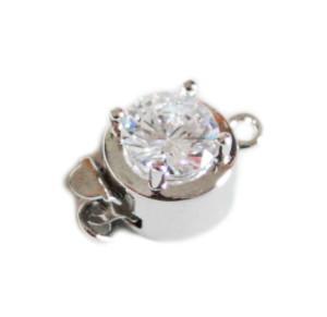Nickel free box clasp w rhinestone, 15mm
