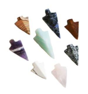 Arrowhead pendant in assorted stone