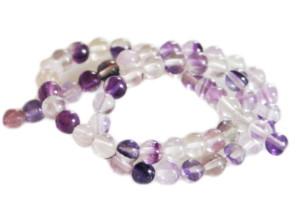 Fluorite bead string, round, 4mm, 40cm