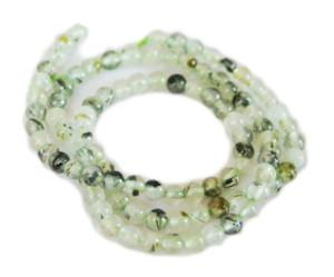 Prehnite bead string, round, 4mm, 40cm