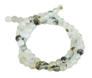 Prehnite bead string, round, 6mm, 40cm