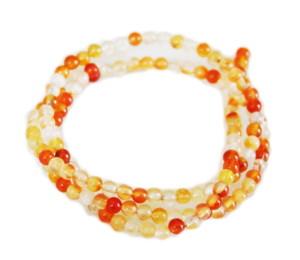 Carnelian bead string, round, 3mm, 40cm