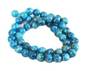 Snowflake Lapis Lazuli bead string, round, 8mm, 40cm
