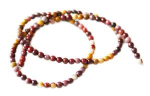 Mookaite bead string, 4mm, round, 40cm