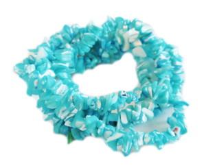 Blue shell chip string, 8-10mm, 80cm