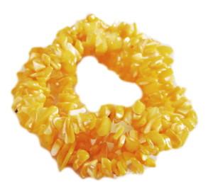 Yellow shell chip string, 8-10mm, 80cm