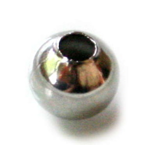 6 x Bead in stainless steel 8mm