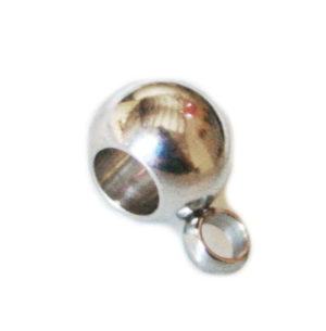 6 x Stainless steel bail w ring, 8mm
