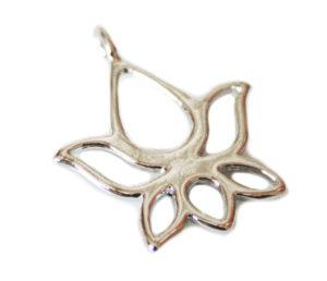 Nickel free lotus flower pendant, 25mm