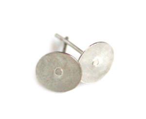 6 x Pairs of flat earring component, DIY item, nickel free