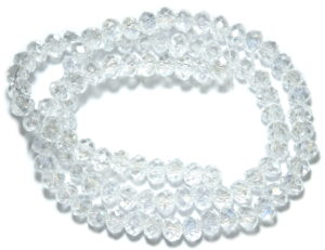 Clear AB glass string, 5x6mm, rondelle, 45cm