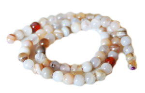 Natural Agate bead string, 6mm, round, 40cm