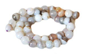 Natural Agate bead string, 8mm, round, 40cm