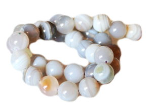 Natural Agate bead string, 12mm, round, 40cm