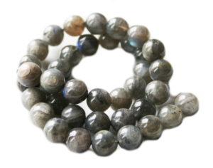 Labradorite bead string, 10mm, round, 40cm
