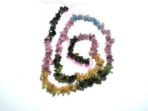 Multi-Coloured Tourmaline Chip string 40cm long