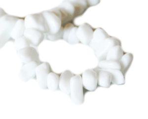 White agate chip string, 8-10mm, 80cm