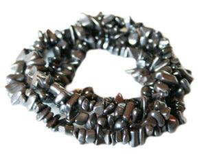 Hematite chip string, 8-10mm, 80cm