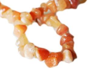 Orange Quartz chip string, 8-10mm, 80cm