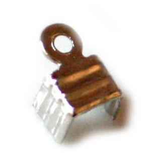 50 x Cable end crimp. 8x5 mm.