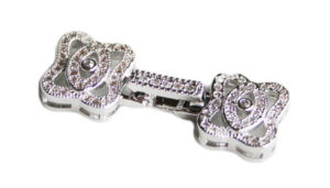 Nickel free snap lock clasp, 3-string, 32mm, AAA quality