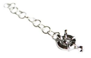 Nickel free signoretti clasp w extender chain, 11mm