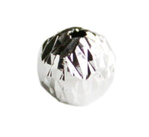 2 x Nickel free round bead, facets, 8mm
