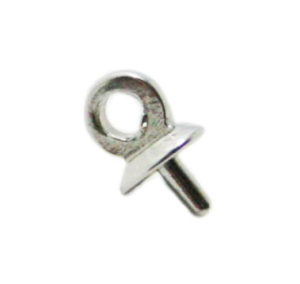 Stainless steel pin bail w hoop, 1x8x5mm