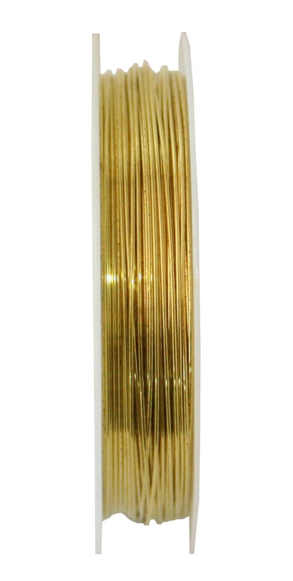 Beading wire, gold, 0.6mm, 8m