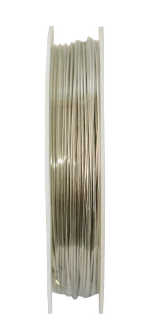 Beading wire, silver, 0.3mm, 8m