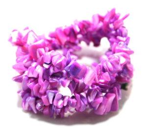 Lilac shell chip string, 8-10mm, 80cm