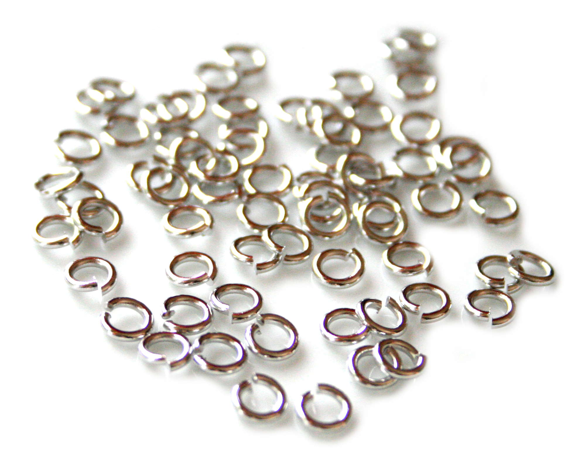 100 x Nickel free jumpring, 0.8x5mm