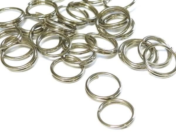 100 x Nickel free split rings, 7mm
