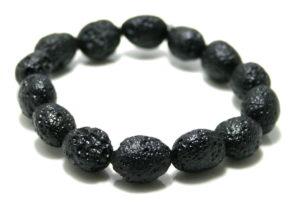 Tektite bracelet, stretchcord, 12x15mm