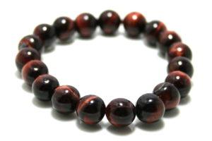 Red Tiger Eye bracelet, stretchcord, 10mm