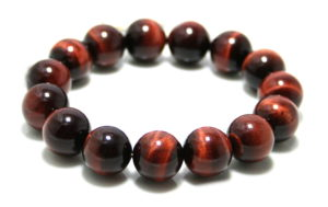 Red Tiger Eye bracelet, stretchcord, 15mm
