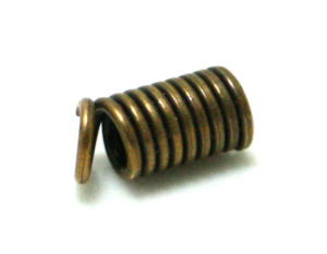 50 x End crimp, bronze, 3mm inside diameter, 10mm